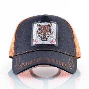 Fashion Baseball Cap Men Women New Trucker Caps With Tiger Patch Snapback Hip Hop Baseball Hat Unisex Breathable Mesh Visor Hat 2