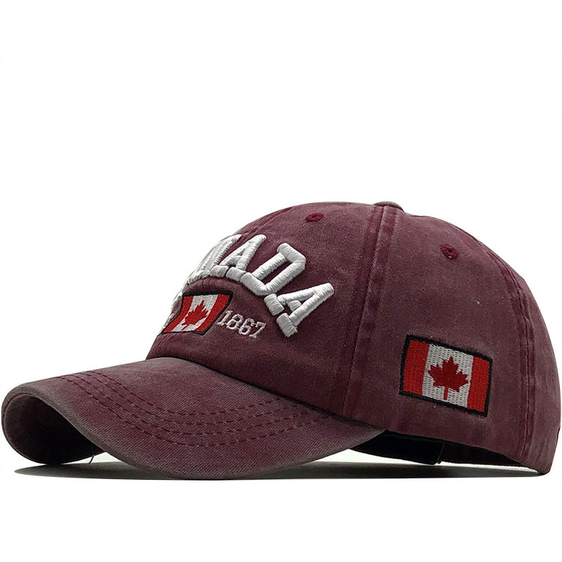 New Men's Baseball Cap For Women Snapback Hat CANADA Embroidery Bone Cap Gorras Casual Casquette Men Baseball Hat