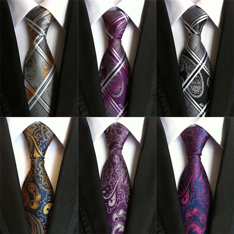 CityRaider Brand Cortbatas 2019 New Silk Neck Ties For Men Wedding Tie 8cm Slim Neckties Mens Necktie Paisley Tie Cravate LD012