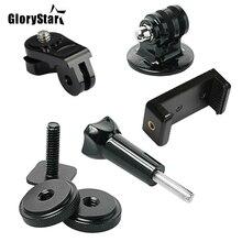 GloryStar Kit de zapata caliente, incluye adaptador de montaje, soporte de teléfono Universal, Thumbscrew para fijar teléfono o GoPro Hero en Go Pro DSLR