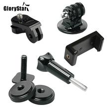 GloryStar sıcak ayakkabı kiti dahil montaj adaptörü evrensel telefon tutucu Thumbscrew takmak için telefon veya GoPro git Pro Hero üzerinde DSLR