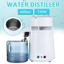 110v/220v 750w 4l destilador de água pura purificador de água recipiente de aço inoxidável dispositivo filtro de água do agregado familiar água destilada