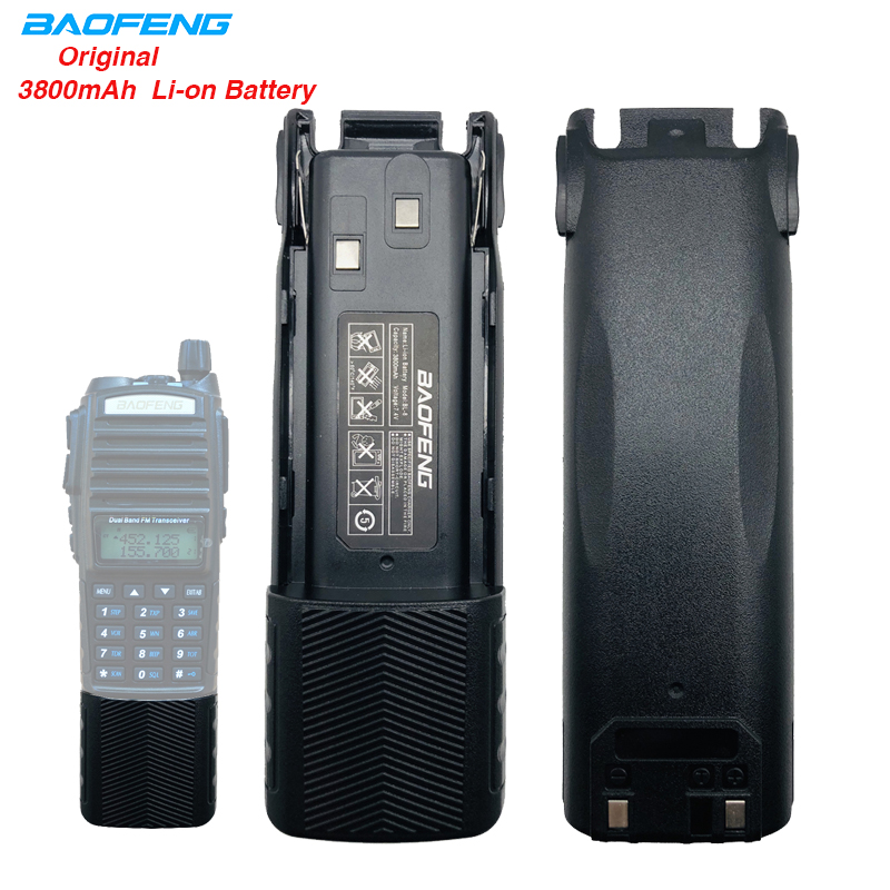 3800mAh BL-8 BAOFENG UV-82 High Capacity Li-ion Battery 2800mAh Car Charger For Baofeng Walkie Talkie UV82 UV-82HP UV 82 Radio