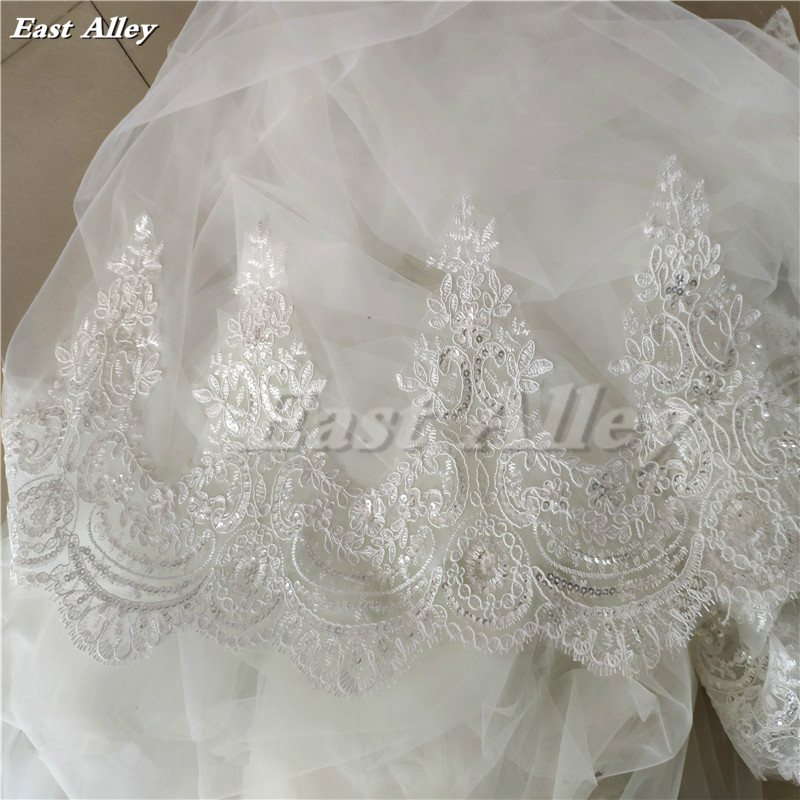 Image 5 - Cathedral Length Wedding Cape Veil  Bridal Cloak Lace Long Bridal Accessories Manto-in Bridal Veils from Weddings & Events