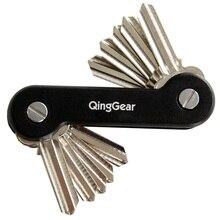 QingGear clé de porte support organisateur, outil dorganisation de poche avec Clip de poche, 3 jeux de vis