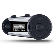 Fodsports V6 زائد دراجة نارية خوذة إنترفون موتو خوذة بلوتوث سماعة 6 الدراجين 1200 متر BT Interphone Intercomunicador FM LED