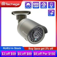 Techage cámara IP H.265 con sonido de 1080P, POE, 2MP, impermeable, vídeo de exterior CCTV, vigilancia de seguridad ONVIF para sistema de POE NVR