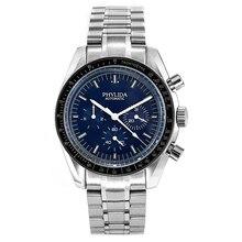 40mm Montre Pour Hommes Cadran Bleu Avec Date Mouvement Automatique montre-Bracelet Sport Rapide Classique