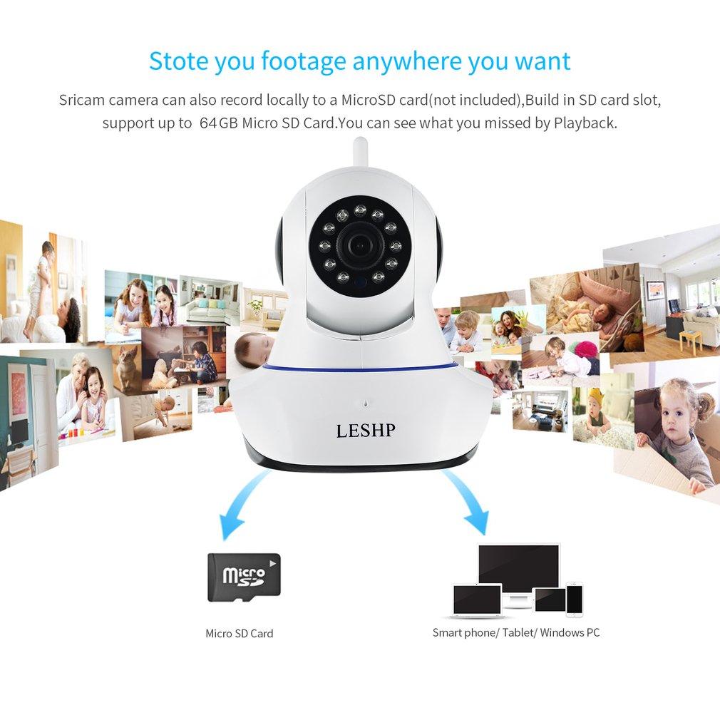 Camera Play Night-Vision 1080P Network Wireless 2MP 4pcs Indoor HD LESHP Ip-Alarm Led-Us-Plug