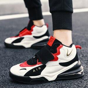 Image 3 - 남자 여자 쿠션 농구 신발 최대 크기 45 농구 스 니 커 즈 Anti skid 높은 상위 신발 남성 스웨이드 농구 부츠 2019