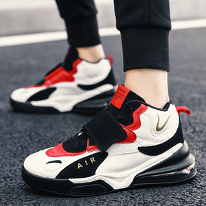 Image 3 - Men Women Cushioning Basketball Shoes Max Size 45 Basketball Sneakers Anti skid High top Shoes Male Suede Basketball Boots 2019