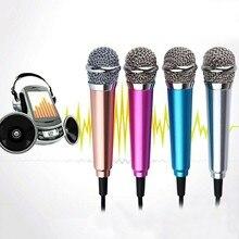 4 colores 3,5mm Mic KTV Karaoke Mini micrófono para Teléfono Celular PORTÁTIL ESTÉREO estudio ordenador portátil Accesorios de escritorio