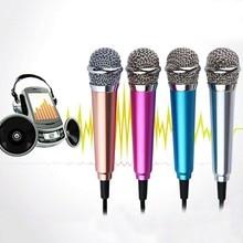 4 farbe 3,5mm Mic KTV Karaoke Mini Mikrofon Für Handy Tragbare Stereo Studio Laptop PC Desktop Zubehör