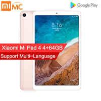 Xiaomi mi Pad 4, планшетный ПК, 8,0 дюймов, mi UI 10, Восьмиядерный процессор Snapdragon 660, 32 ГБ/64 ГБ, Мп + Мп, фронтальная камера заднего вида, двойной Wi-Fi