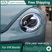 AKD Car Styling Headlight Assembly for 2013 2018 VW Beetle Headlights Bi Xenon LED Headlight LED DRL HID Front Lamp Accessories