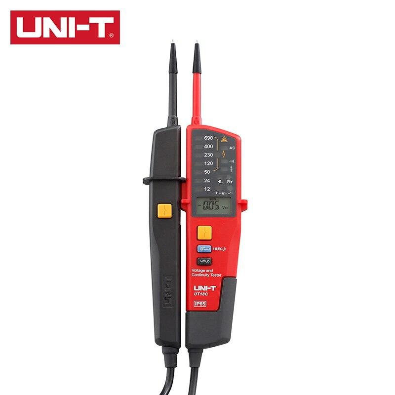 UNI-T UT18C/UT18D Напряжение и непрерывность Тестер AC/DC Напряжение, безуходный 3-х фазный Напряжение, чередования фаз, непрерывности
