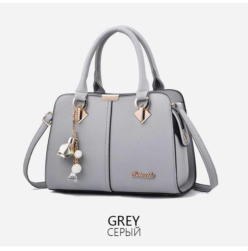 Designer Brand Bags Ladies Leather Tote Bag 2020 Luxury Ladies Handbag Wallet Fashion Shoulder Bag 10