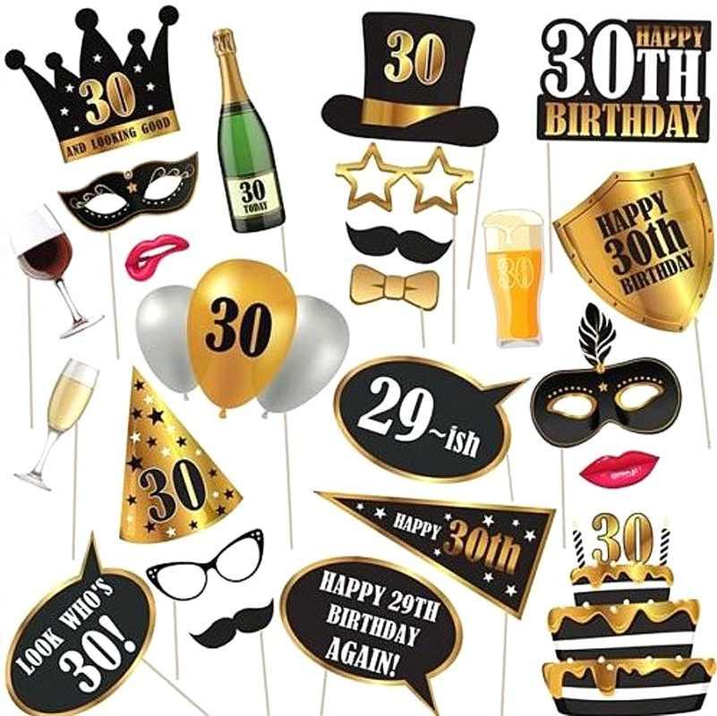 Adulto 30th Nero Rosa Oro Stoviglie Usa E Getta Piatti Tovaglia Tazze Usa E Getta Partito Da Tavola 30th Di Compleanno Rifornimenti Del Partito