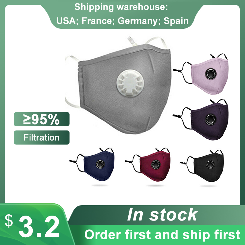 Protective Mask Dust Mask Respirator Anti-pollution Anti-smog PM2.5 With Breath Valve Washable Reusable Face Masks