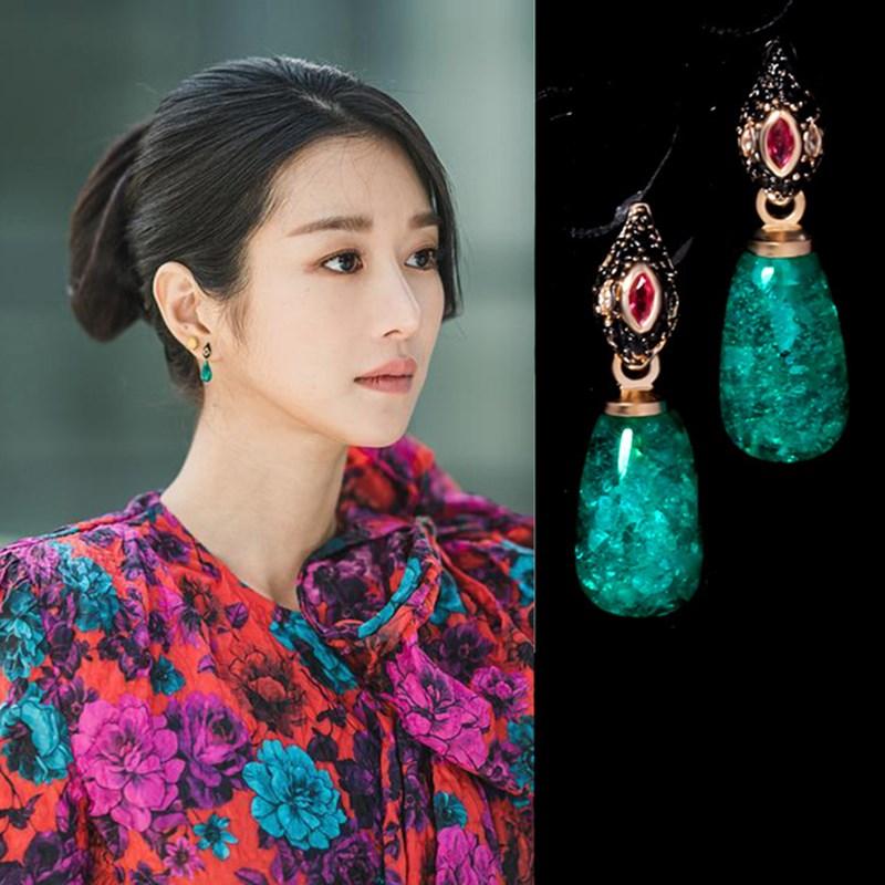 Купить женские массивные серьги в корейском стиле модные подвески с