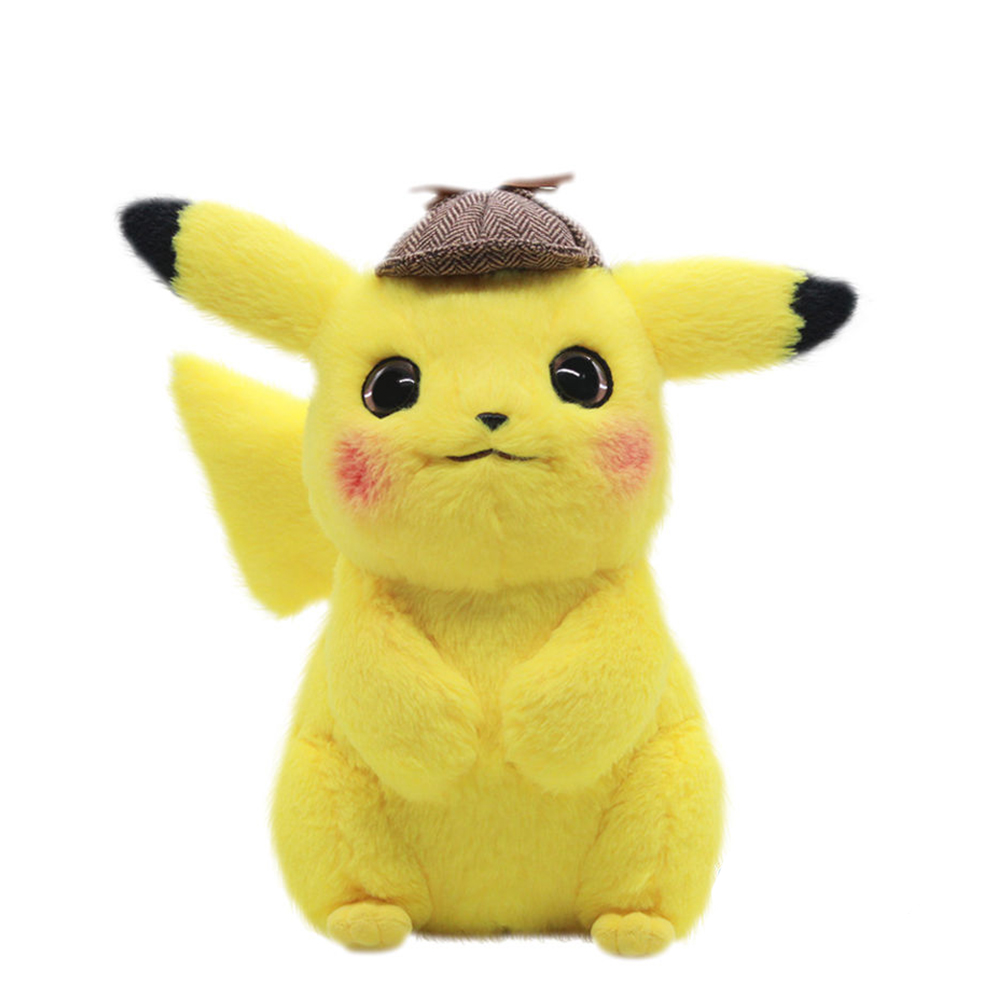 Pikachu Plush Toy 28cm Stuffed Toys Detective Pikachu Japan Movie Anime Toy For Children Doll For Kid Baby Birthday Gifts Anime
