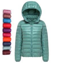 2019 New Ultra light duck down jackets women Hooded winter coat Long Sleeve Warm Slim plus size jacket lady Coats Chic Parkas