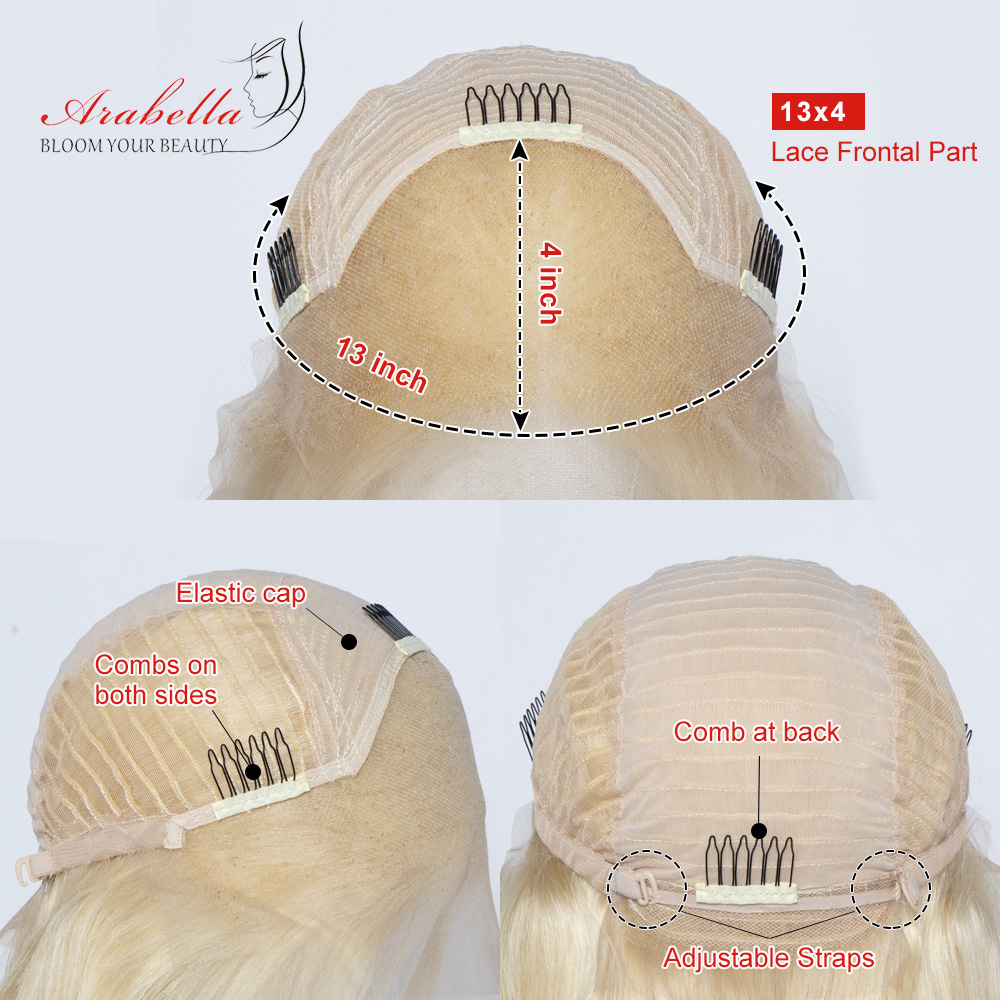 Blonde Straight Bob Wig Lace Front Wig 100%  Wigs 180% Density Arabella   Hair 613 Lace Front Wig Bob 6
