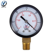 "Vacuum Manometer Mini Dial Portable Dual Scale Dial Gauge 1/4"" NPT -30HG/0PS Vacuum Pressure"