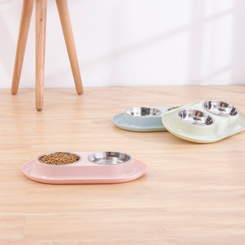 Feeder+Drinking Bowls for Dogs Cats Pet 1