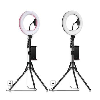 12inch Dimmable Ring Light Profissional LED Selfie Light Live Stream Beauty Photography Fill Lighting with Tripod Stand Holder