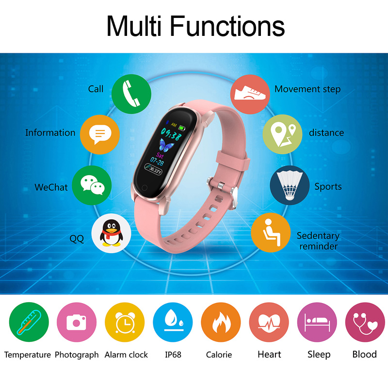 cheapest Smart Bracelet YD8 Men Temperature Measurement Thermometer Band Women Heart Rate Sleep Fitness Tracker Clock Sport Smartwatch