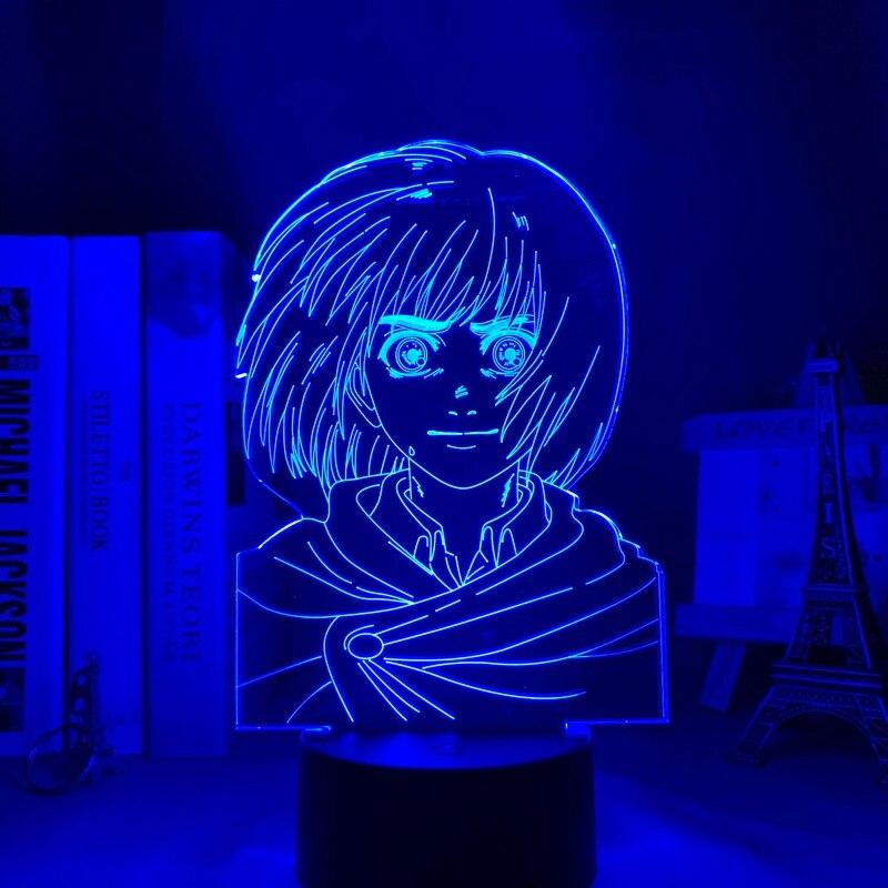 H016992e8dd4a474499367c9d1af76364A Luminária Attack on Titan anime shingeki kyojin 3d lâmpada armin arlert luz para decoração do quarto crianças presente ataque em titan led night light armin arlert