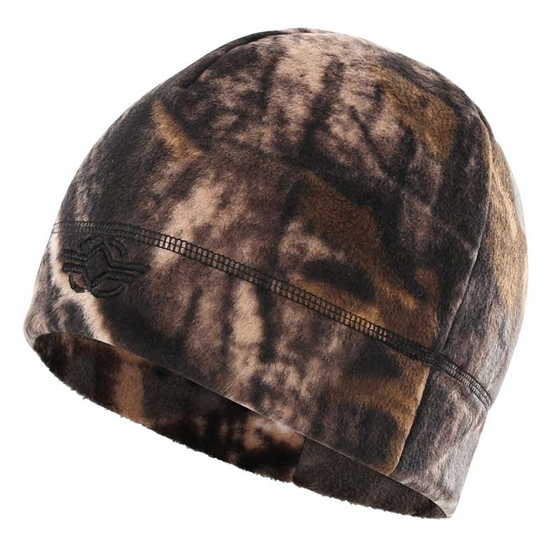 56-60 см уличная тренировочная камуфляжная Тепловая ветрозащитная флисовая шапка мужская зимняя велосипедная походная охотничья Толстая теплая армейская тактическая шапка - Цвет: bionic camo