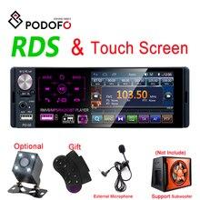 """Podofo RDS автомагнитолы 4,"""" сенсорный экран Мультимедиа MP5 плеер Авто стерео радио bluetooth Поддержка Micophone и камера заднего вида"""
