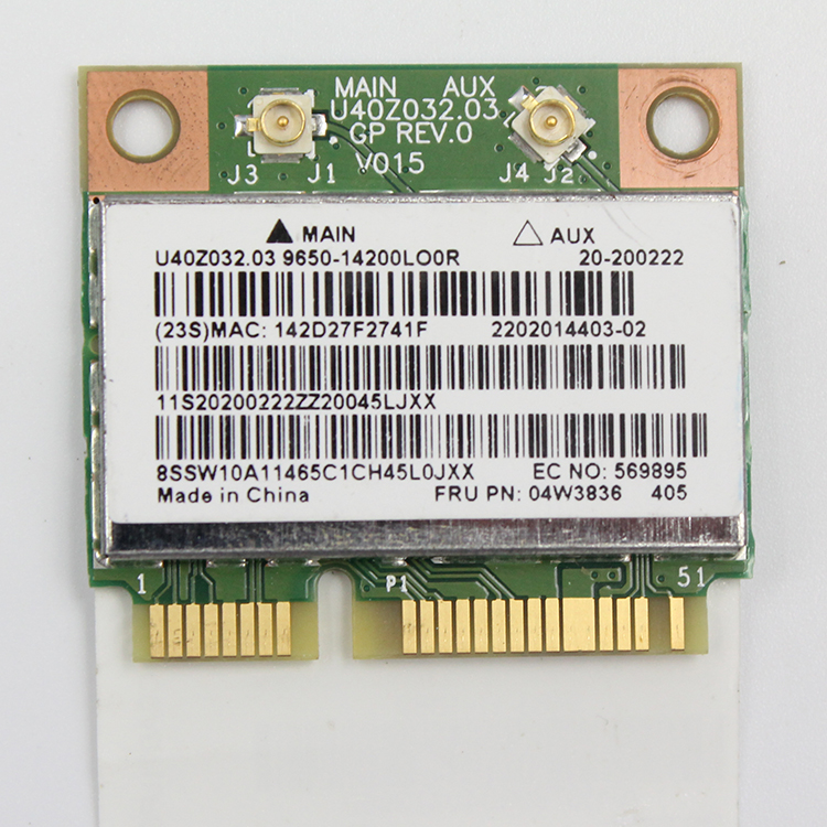 New Original Laptop Lenovo THINKPAD X140E WIFI Wireless Card 04W3836