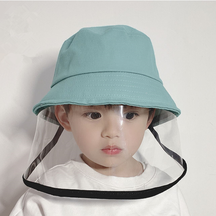 Children Anti-fog Bucket Hats Unisex Outdoor Travel Dustproof Fisherman Hats Chlid Windprrof  Protection Sun Caps