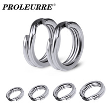 100pcs/Lot Stainless Steel Split Ring Diameter From 4mm to 6mm Heavy Duty Fishing Double Ring Connector Fishing Accessories