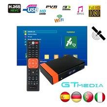 Gtmedia v8 nova de freesat v8 super mesmo que gtmedia v8 honra DVB S2 para 4 anos europa cline construído wifi alta qualidade estável