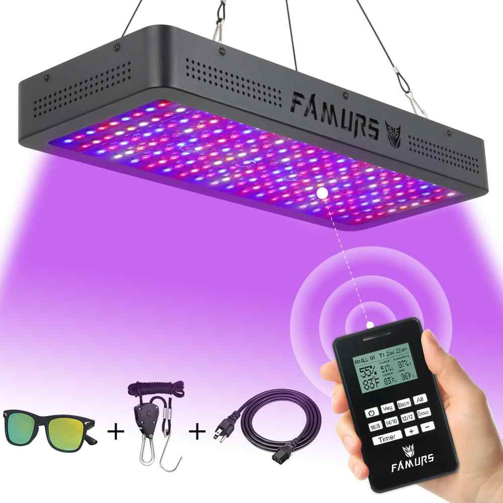Full Spectrum LED Grow Light 1000 W/1200 W/1500 W/2000 W/3000 W Remote kontrol Sayuran Mekar Timmer Tanaman Lampu untuk Indoor