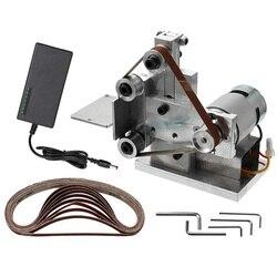 DIY Mini szlifierka taśmowa przecinarka elektryczna krawędzie ostrzałka polerka szlifierka JDH99 w Akcesoria do elektronarzędzi od Narzędzia na