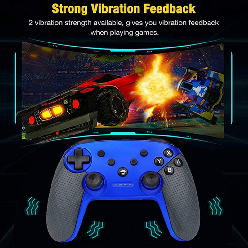 Blue Wireless Switch Pro Controller High Performance Gamepad for Nintendo Switch Console with Gyro Axis Turbo and Dual Vibration