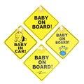 1 шт. ребенок на борту Детская безопасность окна автомобиля на присоске желтая Светоотражающая Предупреждение знак на высоком каблуке 12 см ...