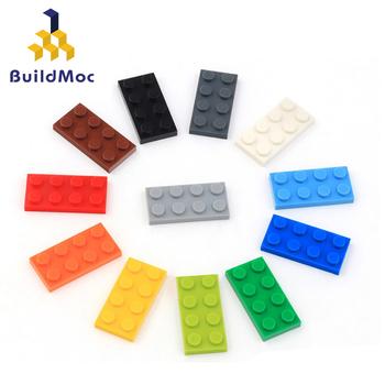 50 sztuk DIY klocki cienkie rysunek cegły 2x4Dots edukacyjne kreatywny rozmiar kompatybilny z lego plastikowe zabawki dla dzieci tanie i dobre opinie BuildMoc CN (pochodzenie) Unisex 3 lat Mały budynek blok (kompatybilne z Lego) Compatible with lego 3020 BLOCKS Z tworzywa sztucznego