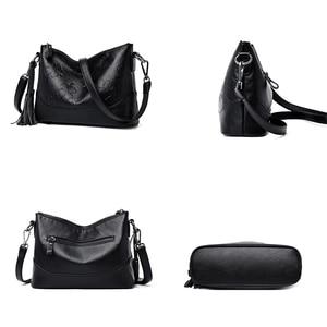 Image 5 - Fashion Printing Ladies Shoulder Bag Luxury Handbags Designer Elegant Tassel Bags for Women High Quality Purses and Handbags Sac