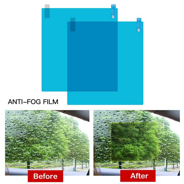 4pcs Car Side Window Protective Film Universal Anti Fog Membrane Antiglare Waterproof Rainproof Car Sticker Clear Film Kit