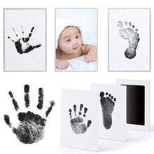 1 pçs recém-nascido infantil pé e handprint impressão kits cuidados com o bebê 6 cores lua cheia lembranças do bebê bonito handprint pegadas fram