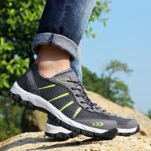 Image 3 - Men Sneakers Breathable Casual Shoes Men Mesh Lace up Comfortable Outdoor Walking Footwear Fashion Sports Men Shoes Plus Size 48