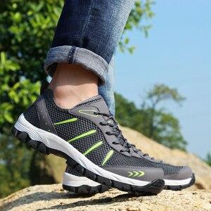 Image 3 - גברים נעלי ספורט לנשימה נעליים יומיומיות גברים Mesh שרוכים נוח חיצוני הליכה הנעלה אופנה ספורט גברים נעליים בתוספת גודל 48