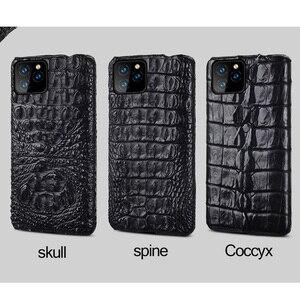 Image 5 - 악어 정품 가죽 케이스 아이폰 11 프로 맥스 오리지널 럭셔리 뒷면 커버 아이폰 12 케이스 12 프로 맥스 xr xs 맥스 fundas