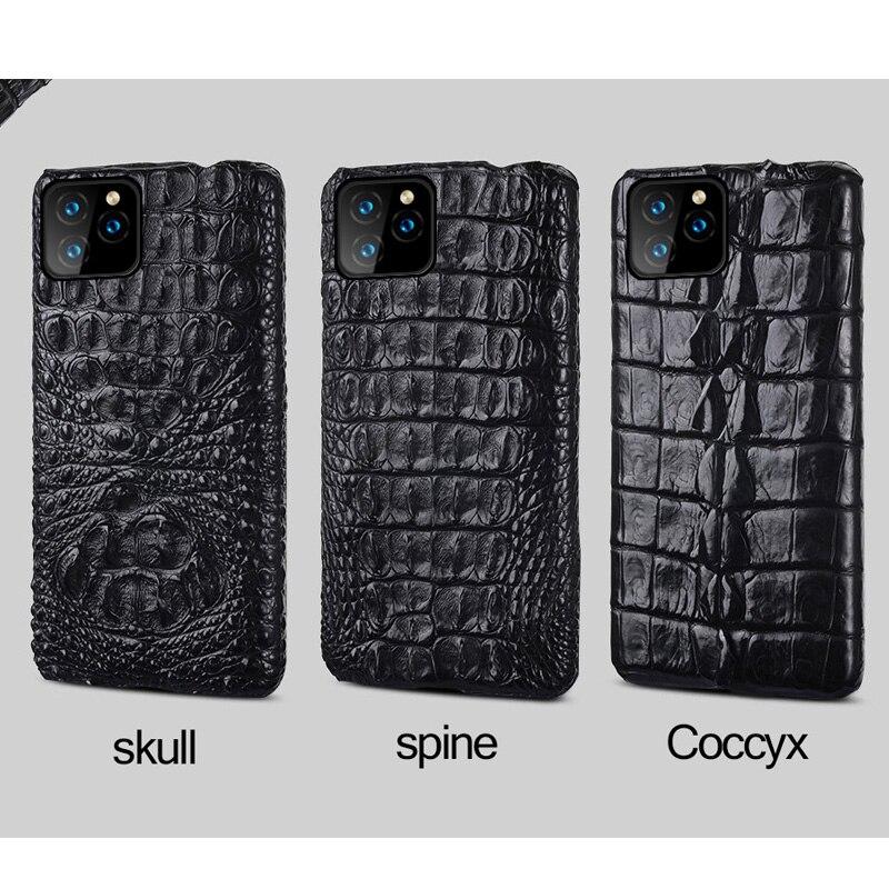 Crocodile En Cuir Véritable étui pour iphone 11 pro max 6.1 Original De Luxe couverture arrière Pour iphone 11 cas xr xs max 7 8 plus fundas - 6